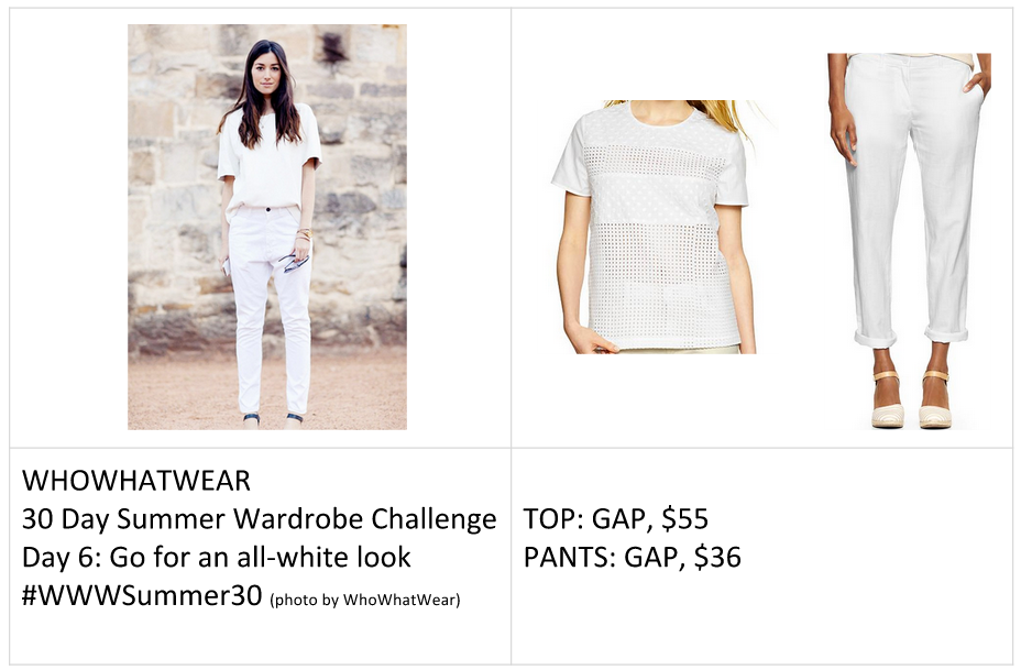 #WWWSummer30 Challenge: Go For An All White Look